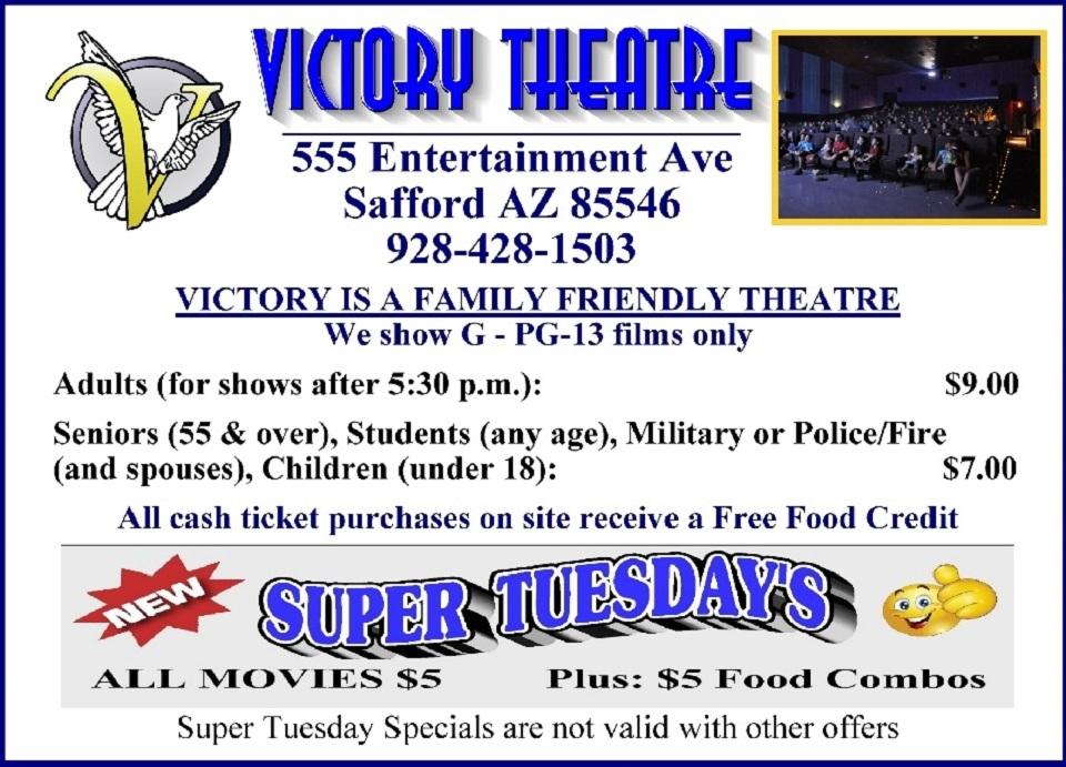 4864ef46651 Victory Theatre Safford AZ Show Times
